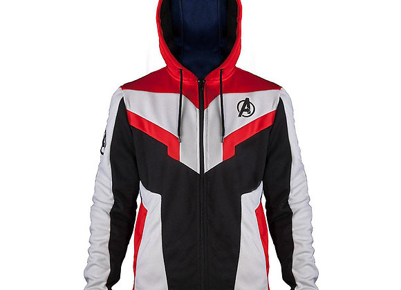 MARVEL Avengers Endgame Quantum Suit Full Length Mens Fit Zipper Hoodie