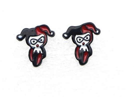 Cute Mini Harley Quinn Earrings