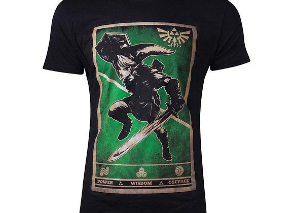 Legend of Zelda Propaganda Link Triforce Poster Official Nintendo T-Shirt