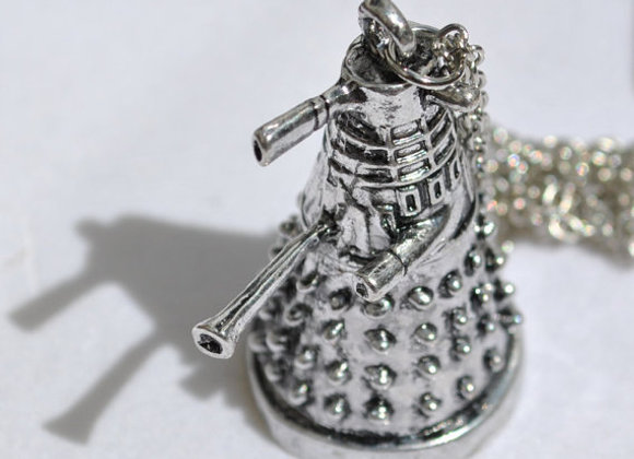 Dr Who Sliver Mini Dalek Necklace