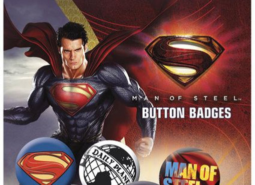 Supeman Man of Steel Badge Set