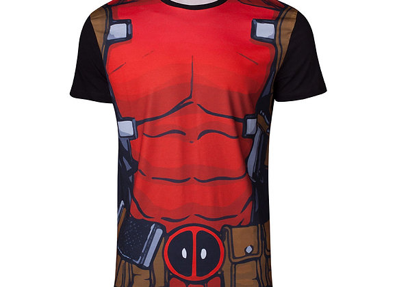 MARVEL COMICS Deadpool Suit Sublimation T-Shirt