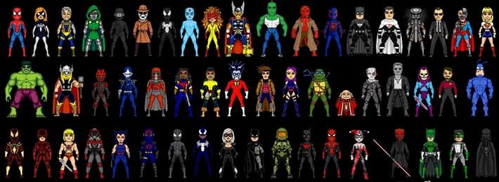 8bit Heroes, 8bit villains, villain blog, batman blog