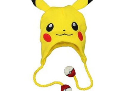POKEMON Pikachu Face Laplander Earflap Beanie Hat