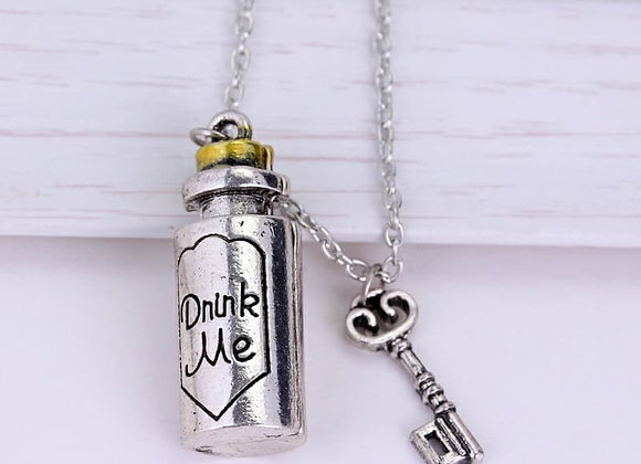 Drink Me Bottle Necklace Alice In Wonderland Necklace