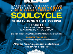 Ride2Read with the Washington Literacy Center Team this Friday!