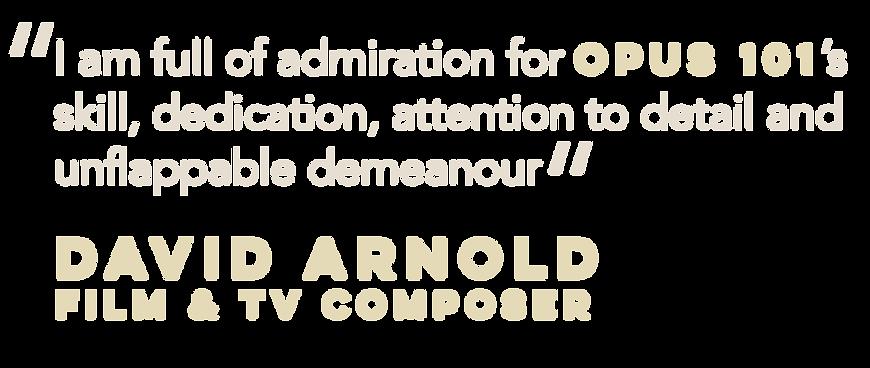 Testimonal from David Arnold