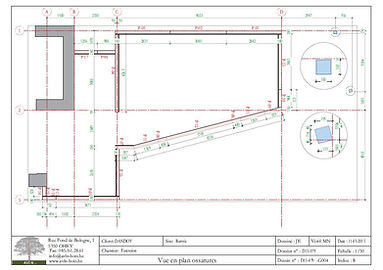 Plan extension ossature bois