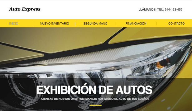 Autos y Transportes website templates – Exhibición de autos