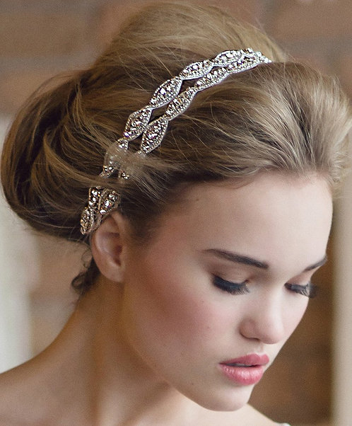 Two Stand Hanne Crystal Double Headband