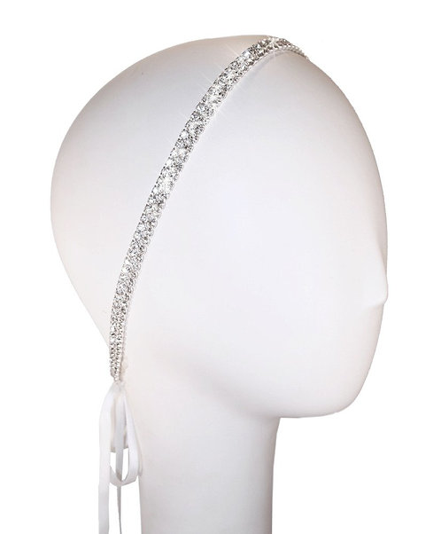 Two Row Coy Crystal Double Headband