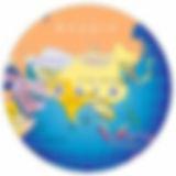 Asia Map, Globe, Asian Canoe Confederation