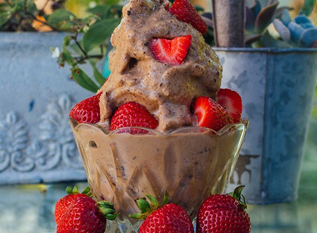 Chocolate Peanut Butter Ice Cream - NO guilt!