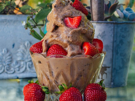 Chocolate Peanut Butter Ice Cream - NO guilt!