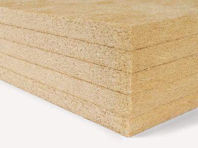 Склеенные слои древесноволокнистой плиты GUTEX, произведнной мокрым способом