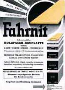 1932 Fahrnit: первая древесная плита GUTEX