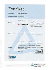 Сертификат ИСО 9001 TÜV — Система менеджмента качества