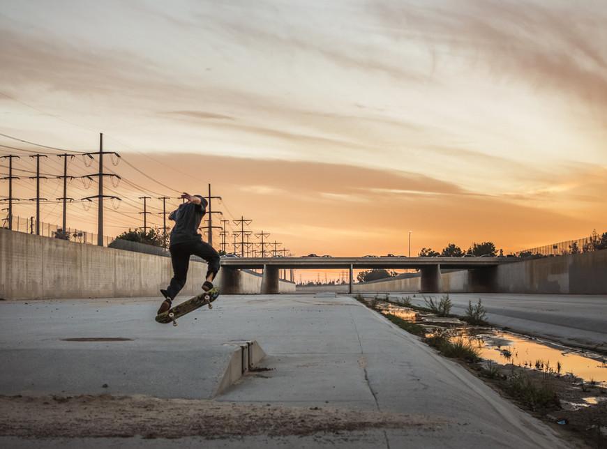 Sunset skate sesh
