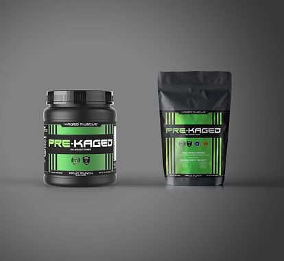 Packaging mockup for muscle protein product