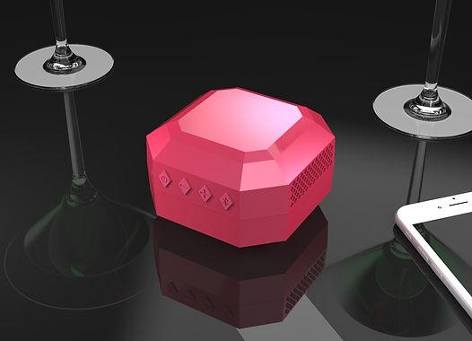 Diamond shaped bluetooth speaker design concept