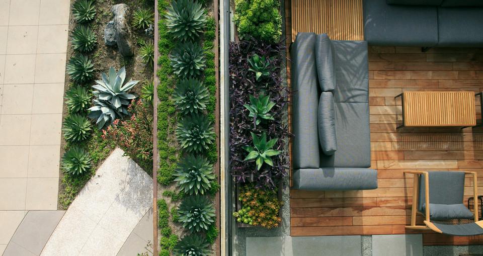 C3 Bank outdoor customer lounge