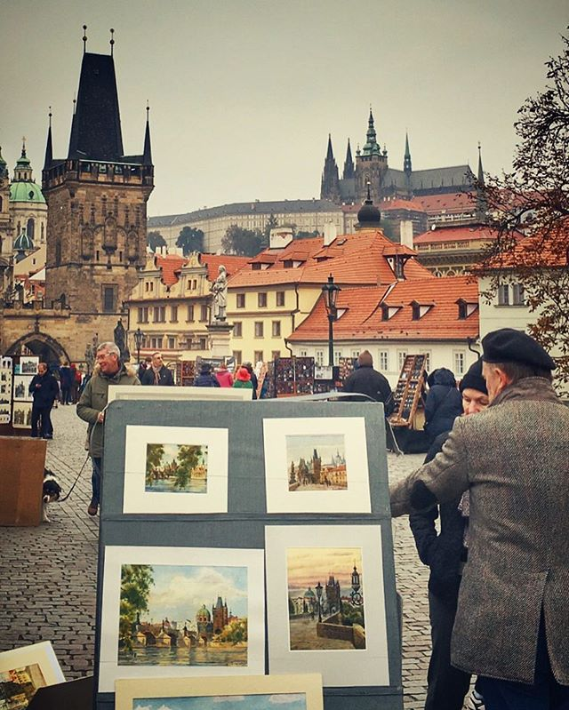 Just another day on the #charlesbridge in #Prague #traveltheworld #explore #travel #travelphotograph