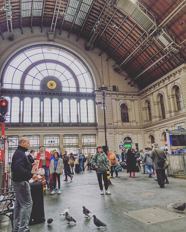 Just another day in #keletitrainstation #budapest #hungary #europeansociety #hungarian #wanderlust #