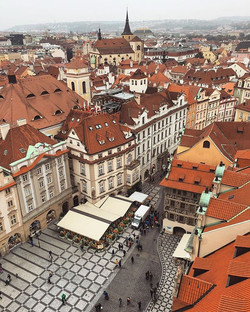 Throw back Thursday to our 3 days in Prague! Such a great view from the clock tower in old town cent