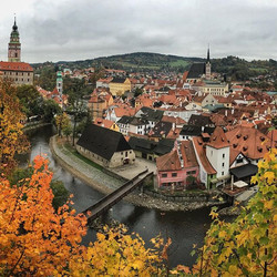 Dobry den #creskykrumlov #czechrepublic #village #castle #love #beauty #autumn