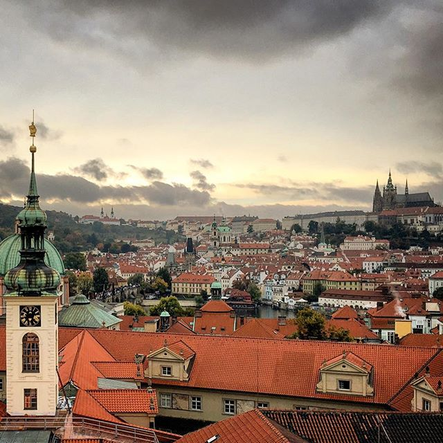 Some of the best views come from unexpected journeys up hidden stairwells #prague #czechrepublic #cz