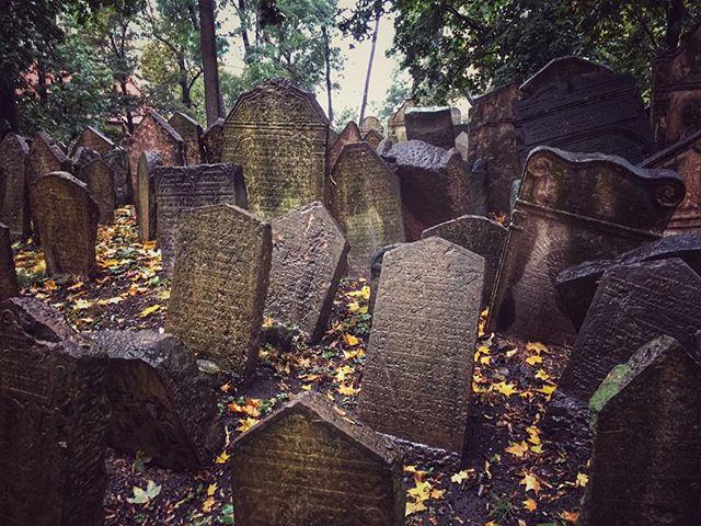 Jewish Cemetery #czechrepublic #prague #jewishcemetery #happyhalloween #travel #explore #wanderyall