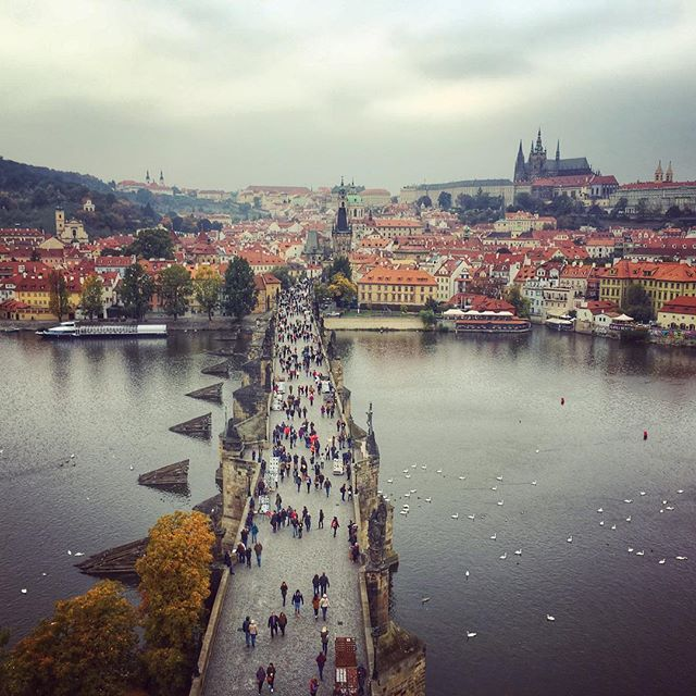 #prague #praha #charlesbridge #towerview #czechrepublic #wanderyall