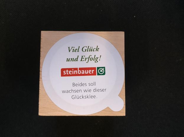 Glückskleewürfel-Sticker