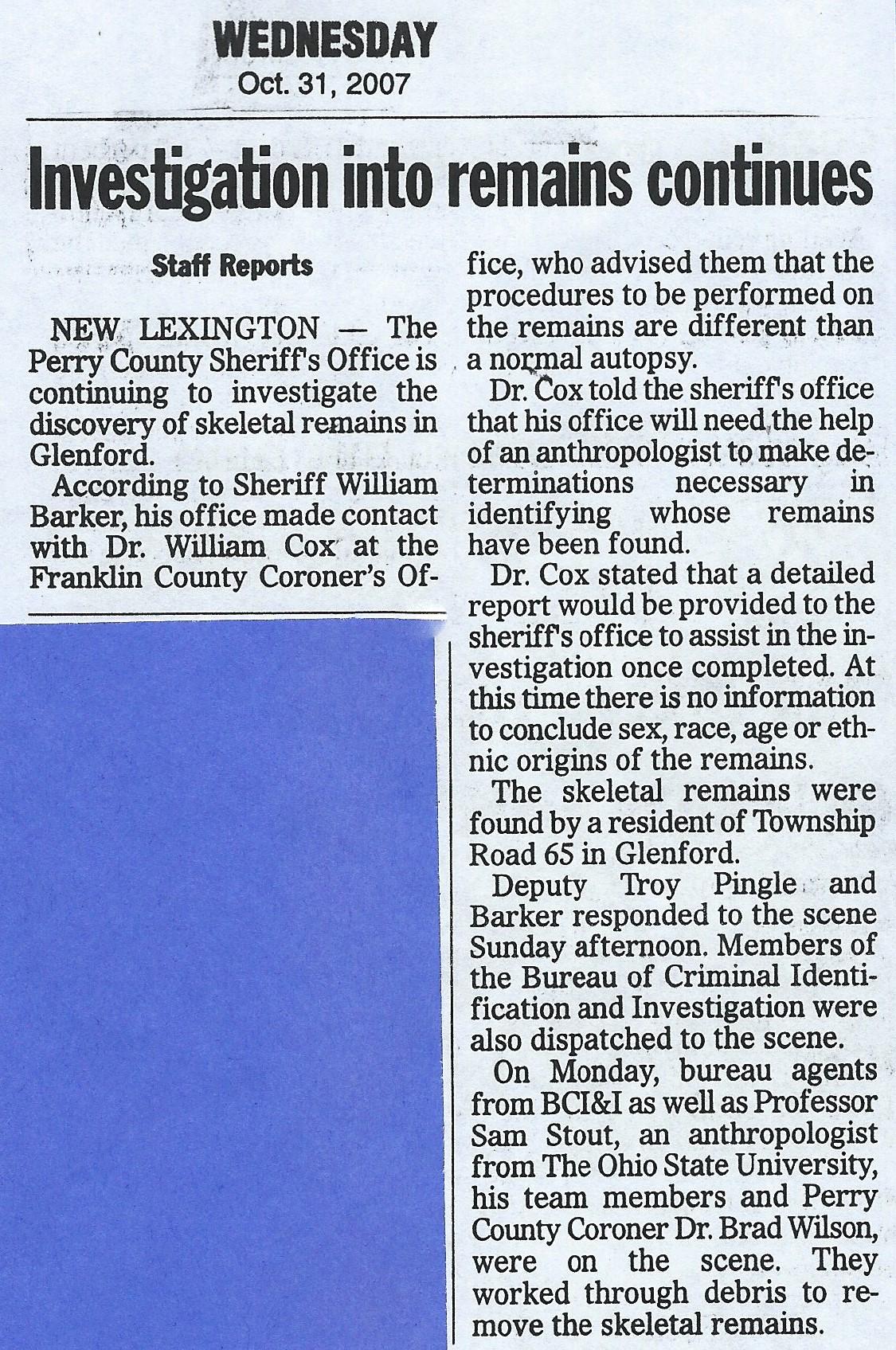 investigations continues