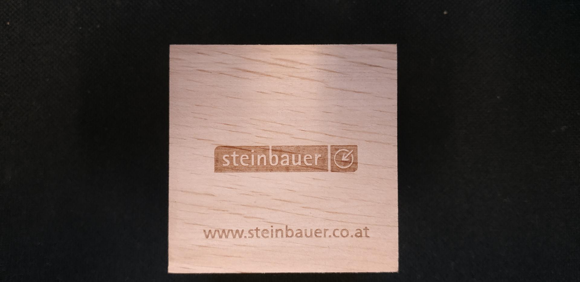 Glücksklee-Würfel-Lasergravur