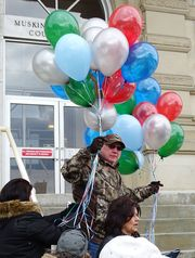 30 Balloons representing 30 years