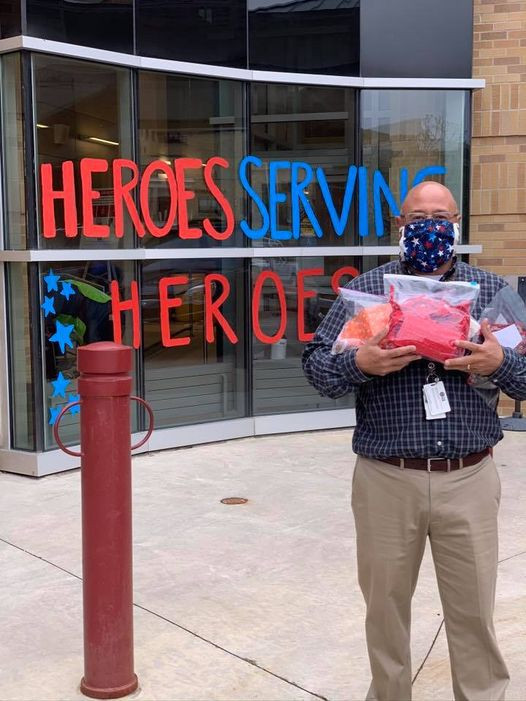 VA mask donation with Associate Director