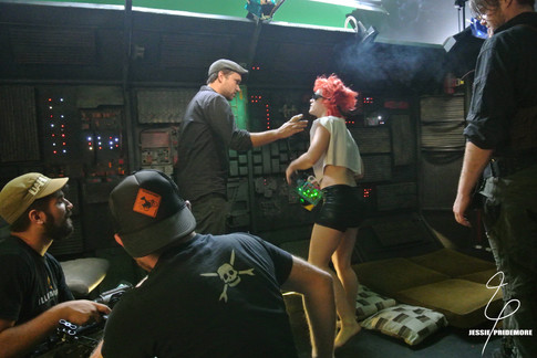 Jessie working on the Cowboy Bebop music video for Anime Expo as Edward
