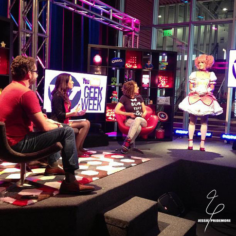 Jessie participating in YouTube's Geek Week send off in costume.