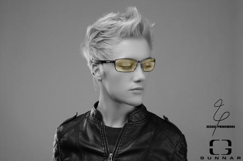 Jessie modeling for Gunnar Optiks gaming glasses