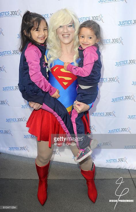 Jessie volunteering at CASA LA's Justice Jog as Supergirl  Photo by Al Ortega