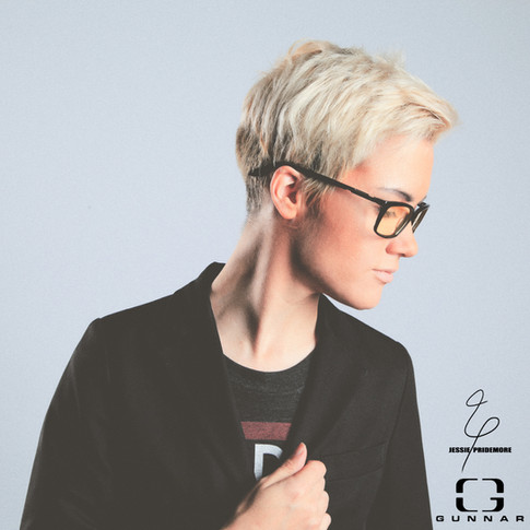 Jessie modeling for Gunnar Optiks gaming glasses  Photo by Bryant Figueroa