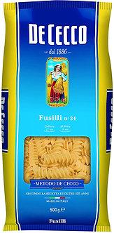 Pasta Fusilli De Cecco 500 Gr