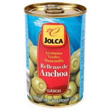 Aceituna Rellena De Anchoa Jolca 300 Grs