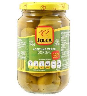 Aceituna Gordal C/Hueso Jolca 350 Ml.