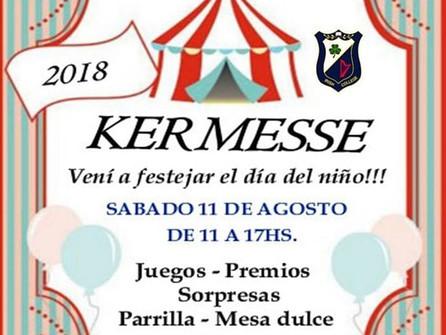 Kermesse -Festejamos el día del niño. Sábado 11/08 de 11 a 17 hs.