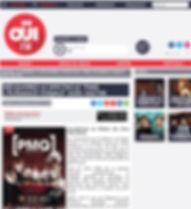 Article du site Oui FM PMQ l'élégance voQale au Théâtre des deux Ânes à Paris février 2019