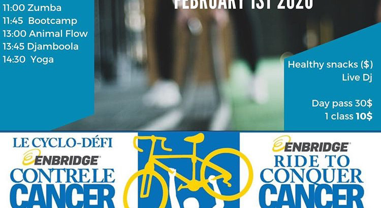 Fundraiser DJ in Montreal - Ride to Conquer Cancer at Marriott Fitness Day in Montreal