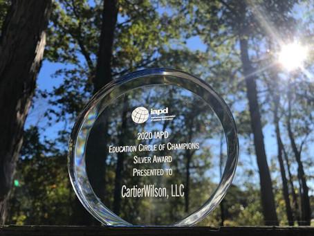 2020 IAPD Awards: CartierWilson presented Silver Educational award