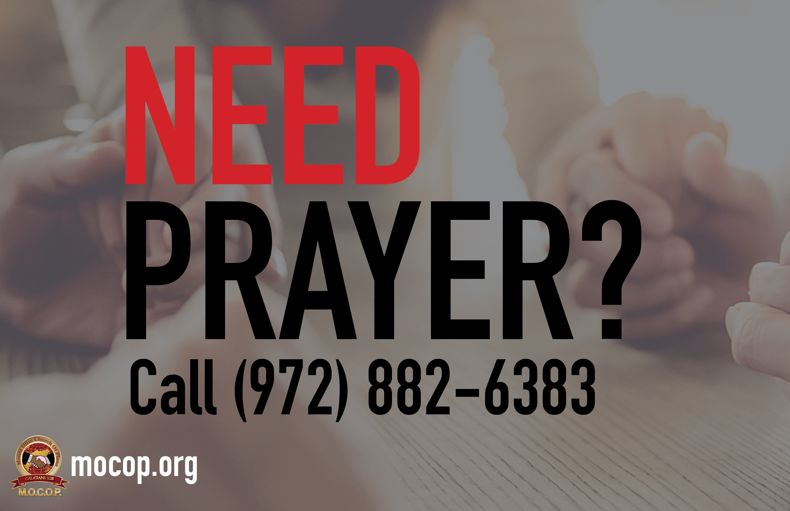 Need Prayer Banner